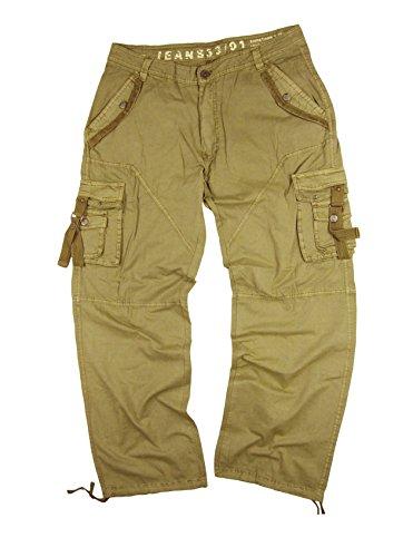 StoneTouch #A8 Men's Military-Style Cargo Pants 42x32--Khaki - Khaki Cargo Style Pants