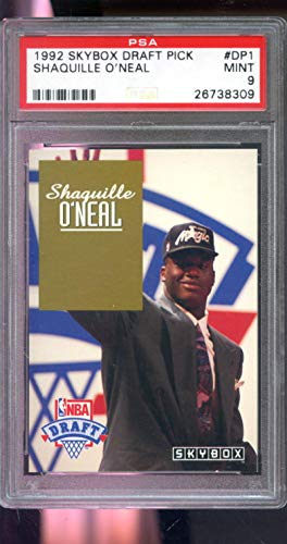 1992-93 Skybox NBA DP1 Draft Pick Shaquille O'Neal Shaq ROOKIE PSA 9 Graded Card