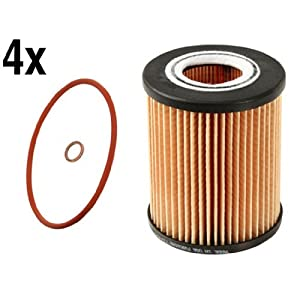 BMW (96-07 6cyl) Oil Filter Kit (x4) BOSCH