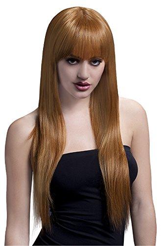 Fever Women's Auburn Long Straight Hair with Bangs, 26inch, One Size, - Auburn Mall