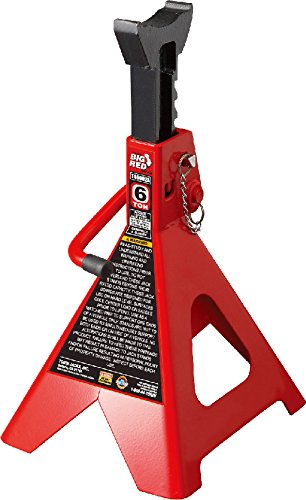 Torin Big Red Steel Jack Stands: Double Locking, 6 Ton Capacity, 1 Pair by Torin (Image #1)