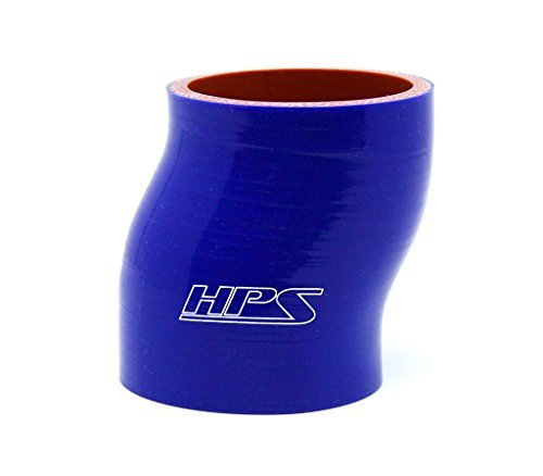HPS HTSOC-250-BLUE Silicone High Temperature 4-ply Reinforced Straight Offset Coupler Hose, 75 PSI Maximum Pressure, 2-1/2'' ID, Blue