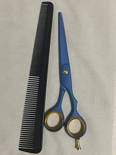 Professional Moustache Scissors, Beard Trimming Scissors, Extremely Sharp 6″+ Case