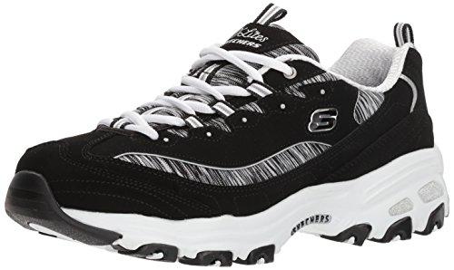 Skechers Sport Women's Dlites Interlude Sneaker,black/white,9 M ()