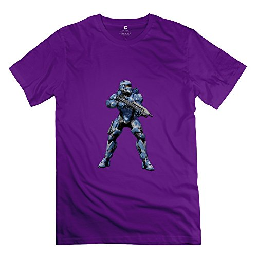 Halo Spartan Assault:armour Joke Short-Sleeve Purple Shirts For Adult Size -