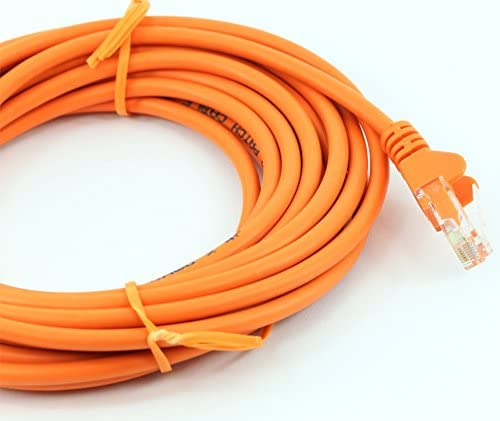 32ft 10in, Orange rhinocables Cat 5e Cat5e Ethernet RJ45 High Speed Network Cable Internet Fast Speed Lead