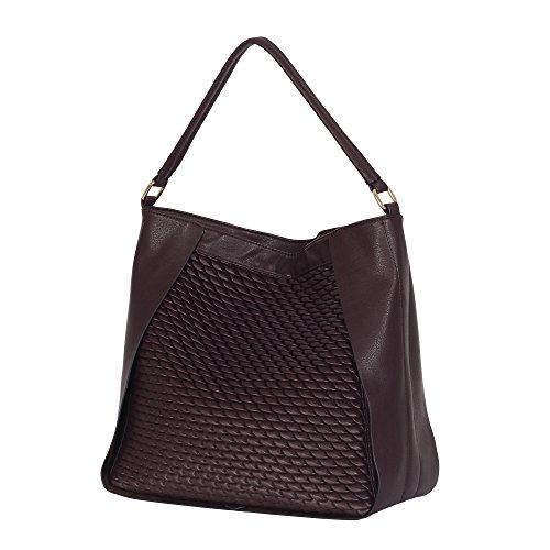 - Women Hobo Bag Top Handle Tote Faux Leather Shoulder Bag Purse Dark Maroon