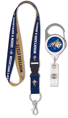 Wincraft Bundle 2 Items: Montana State University Bobcats 1 Premium Lanyard and 1 Badge Reel