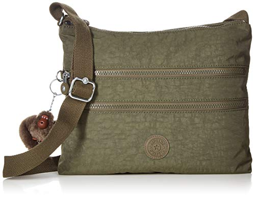 Kipling Women's Alvar Bag, Adjustable Crossbody Strap, Zip Closure, Jaded Green Tonal