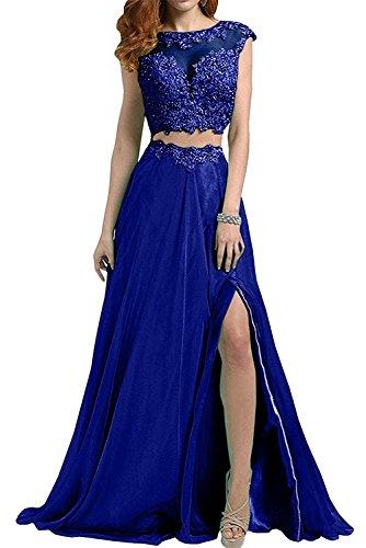Blau mia Kleider Rock Damen Braut Jugendweihe La Lang Rosa Linie Spitze Brautmutterkleider A Zweiteilig Abendkleider Royal wzx1ZqT