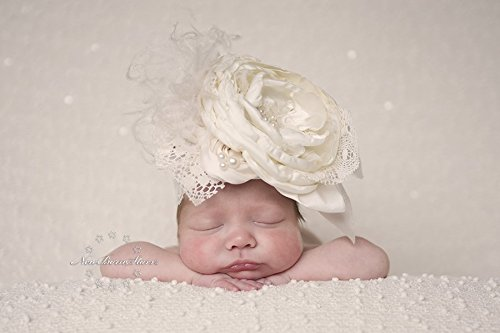 Amazon.com  Couture Ivory Headband  Handmade 24a68b1e01f