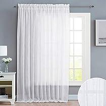 NICETOWN Linen Textured Look Sheer