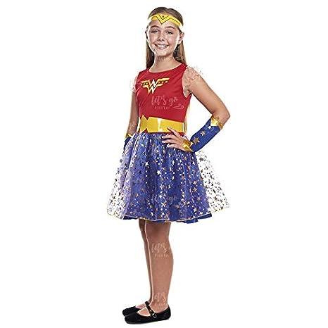 Disfraz Heroína Wonder Girl Niña Disfraz Superhéroe Niña (Talla 3 ...