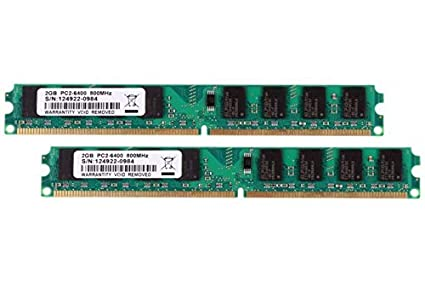 Amazon com: FidgetGear 4GB 2X 2GB PC2-6400 DDR2 800MHz 240PIN DIMM