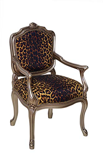 Leopard Children Arm Chair (French Louis Xv Arm Chair)