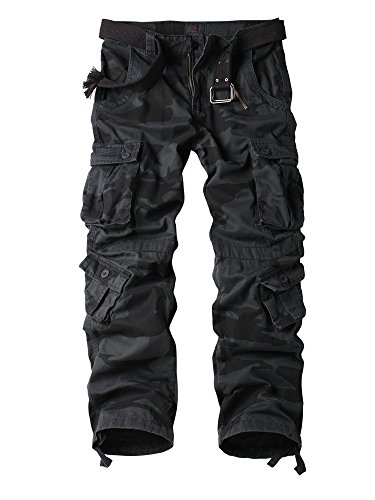 Addt Must Way Men's Cotton Casual Military Army Cargo Camo Combat Work Pants With 8 Pocket E Camouflage - Cargo Pants Camouflage