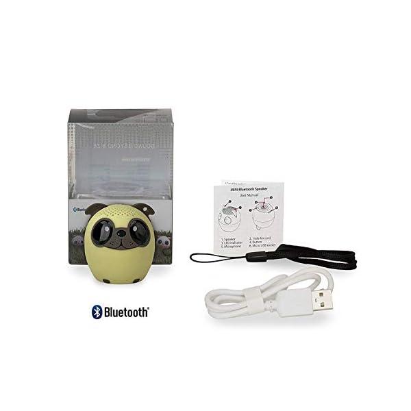 TBS2520 Mini Enceinte Bluetooth sans Fil - Mini-Animal Chien - Super Mignon & Puissante - 3 Watts - Kit Main-Libre Téléphone & Selfie - Appli pour Jouer - pour iPhone Samsung Huawei etc & Tablette 4