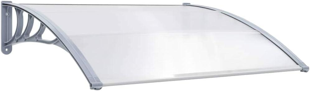 Auvent pour porte auvent de v/éranda auvent alv/éolaire en plastique auvent pour porte ou fen/être auvent pour porte de balcon ext/érieur