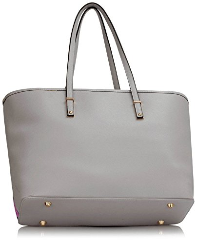 Shoulder 2 Bags Womens A4 Bags Folder Animal Handbags Print Oversized Also Design Ladies Butterfly Grey Female Large fits Extra F44wTBdx