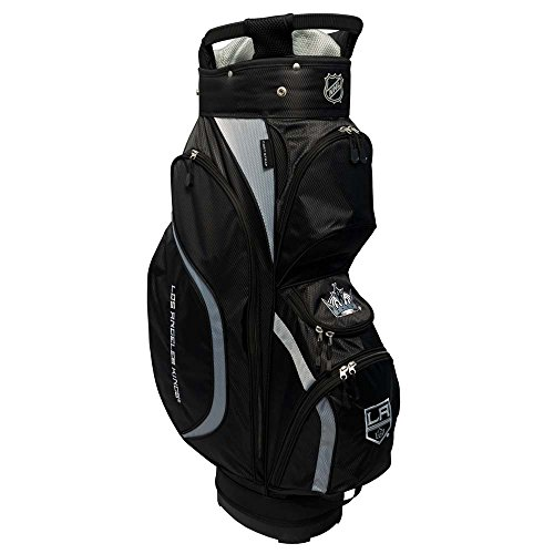 Team Golf NHL Detroit Red Wings Clubhouse Golf Cart Bag, Lightweight, 8-Way Top with Integrated Handle, 6 Zippered Pockets, Padded Strap, Towel Ring, Umbrella Holder & Removable Rain Hood