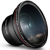 58MM 0.43x Altura Photo Professional HD Wide Angle Lens (w/Macro Portion) for Canon EOS 70D 77D 80D Rebel T7 T7i T6i T6s T6 SL2 SL3 DSLR Cameras