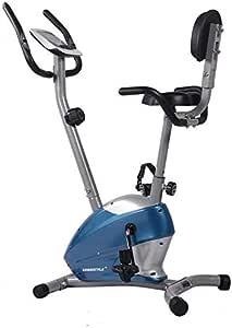 LSYOA Magnético Vertical Bicicleta Estática, Fitness Bicicleta Spinning con Pantalla LCD Indoor Bicicleta Ajustable Asiento Resistencia Equipo De Ejercicios,Blue: Amazon.es: Hogar