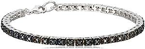 Sterling Silver Black Diamond Tennis Bracelet (1cttw, I2 Clarity)