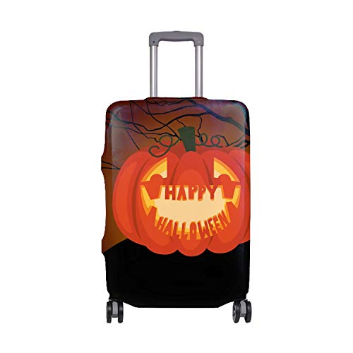 (Super Elastic Travel Luggage Cover Anti-scratch Baggage Suitcase Protective Cover Luggage Poster Halloween)