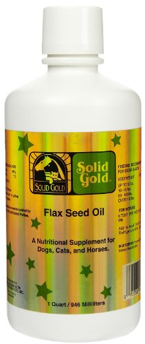 SOLID GOLD 937753 Flaxseed Oil for Pets, 12-Ounce, My Pet Supplies