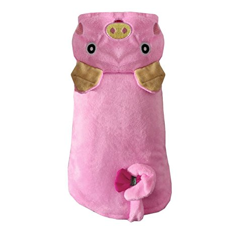 Fenarzo Pink Pig Hoodie for Small Dogs (XL, (Pig Costume For Dogs)