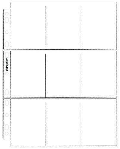 TYH Supplies 18 Pocket Coupon Pages - Eighteen Pockets Page Top Load Vertical Slots Economy 11 Hole Clear Coupon Protectors - Box of 100