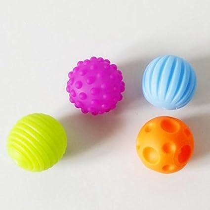 Cupcinu Super Durable 4 Pack Bolas Sensory Bolas Suaves Texturizadas para  Bebés Niños  Amazon.es  Hogar 97bed4266bce