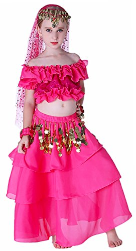 (Renaissance Halloween Gypsy Jingle Costume Kids Girls 4T 6 7 8 10 12 14 16 L XL)