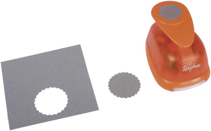 RAYHER 8964000 Redonda para Perforadora de Papel Decorativo con Borde Festoneado de di/ámetro 2,54 cm