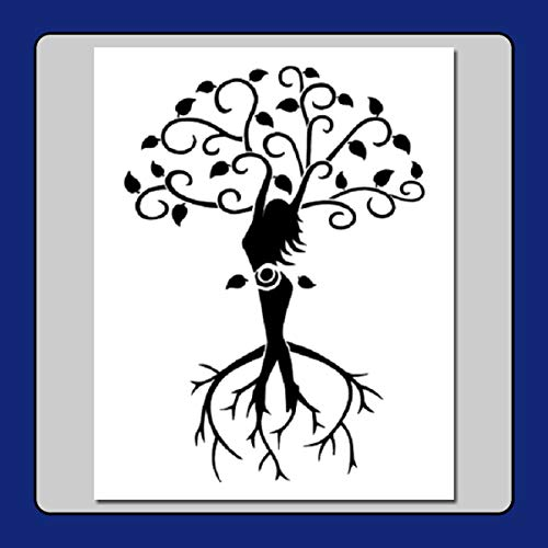 8 X 10 Stencil/Template Tree of Life Wiccan Spiral Goddess Branches/Roots/Leaves/Pagan (Images Of Trees With Roots And Branches)