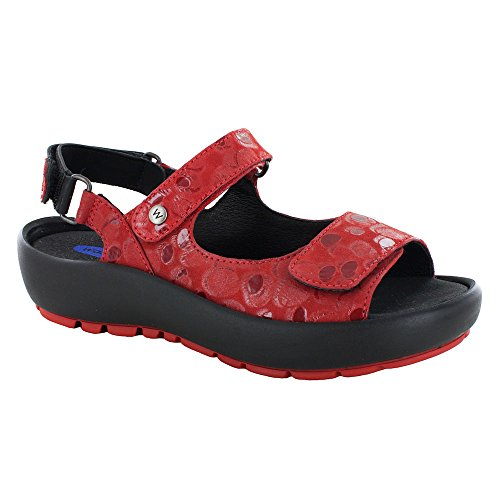 Wolky Wolky Jewel Circles Red Comfort Comfort F5PO1