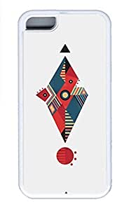 LJF phone case ipod touch 4 Cases - Summer Unique Wholesale TPU White Cases Personalized Design Red Diamond Circular