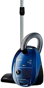 Siemens VSZ31455 - Aspiradora (1400 W, 10A, 50Hz, Aspiradora cilíndrica, Bolsa para el polvo, 4 L, Negro, Azul, Gris)