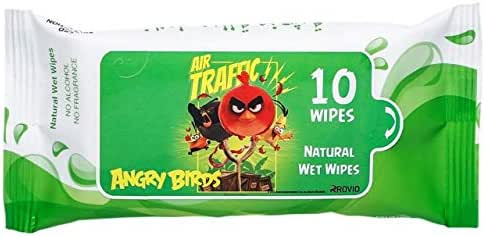Angry Bird - Natural Wet Wipes - Green (Buy 2 Get 1 FREE)
