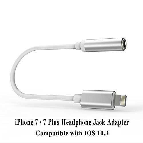 McLightning Headphone Adapter to 3.5mm earbuds Jack Adapter Earphone for iPhone 7