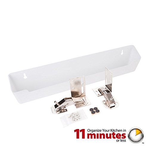 Hardware Resources TO14S-R Shallow Sink Tipout Tray Pack, White (Plastic Tip Tray)