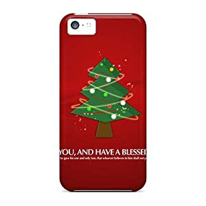 Awesome KOR48553CJHw AlexandraWiebe Defender Hard Cases Covers For Iphone 5c- Merry Christmas Tree