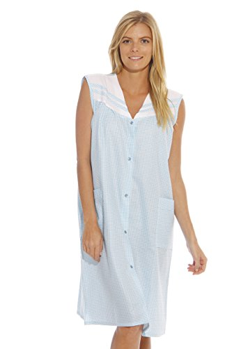 8930-Royal-3X Dreamcrest Sleeveless Duster/Housecoat/Women Sleepwear (Sleeveless Muumuu)