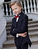 ELPA ELPA Boys Tuxedo Black Formal Suits Tuxedo for Thanksgiving Shows Performance
