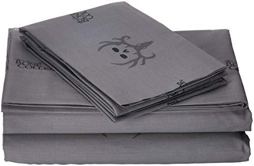Bone Collector Sheet Set, King, Black/Grey