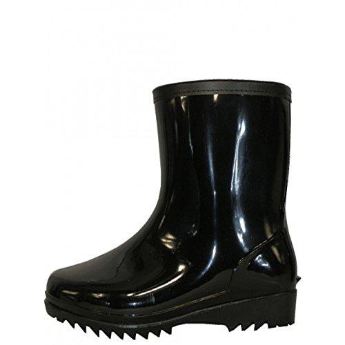 Wearitti Heren 8 Inch Zwarte Regenlaarzen, Rubberen Laarzen, Waterdichte Schoenen