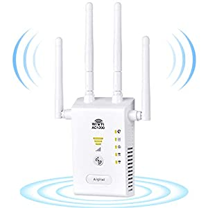 Aigital WiFi Booster 1200Mbps WiFi Blast Long Range Extender Ultra Powerful WiFi Relay Amplifier with 4 x external…