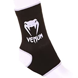 Venum Muay Thai/Kick Boxing Ankle Support Guard, Black