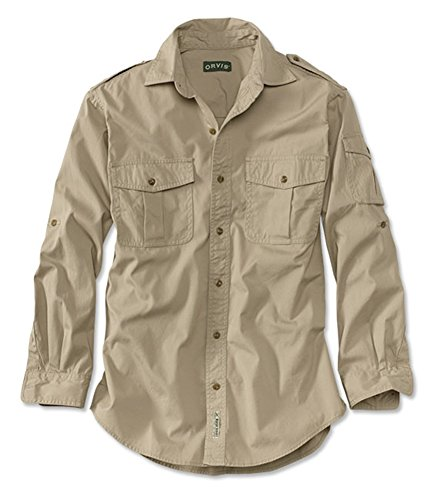 Orvis Men's Bush Shirt / Regular, Light Khaki, Xx Large
