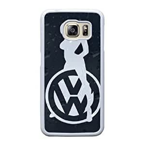 Fashion design volkswagen VW logo Samsung Galaxy S6 Edge Cell Phone Case White for Xmas gift CAR9710958